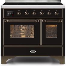 Majestic II 40 Inch Electric Freestanding Range in Glossy Black with Bronze Trim