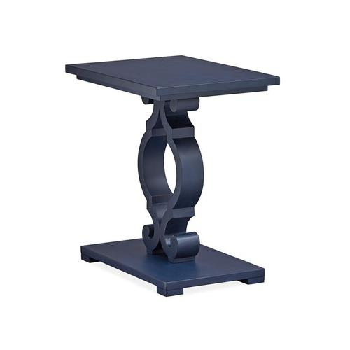 Chairside End Table - Weathered Navy