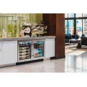 24 Inch Single Zone Overlay Glass Door Right Hinge ADA Height Undercounter Wine Cabinet