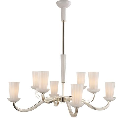 Visual Comfort BBL5028SS-WG Barbara Barry All Aglow 8 Light 41 inch Soft Silver Chandelier Ceiling Light