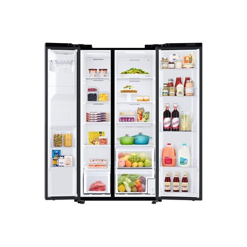 22 cu. ft. Counter Depth Side-by-Side Refrigerator in Black Stainless Steel