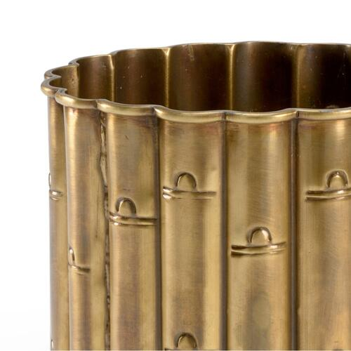 Brass Bamboo Planter (sm)