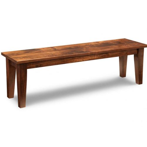 """- Glengarry 60"""" Leg Bench with Wood Seat"""