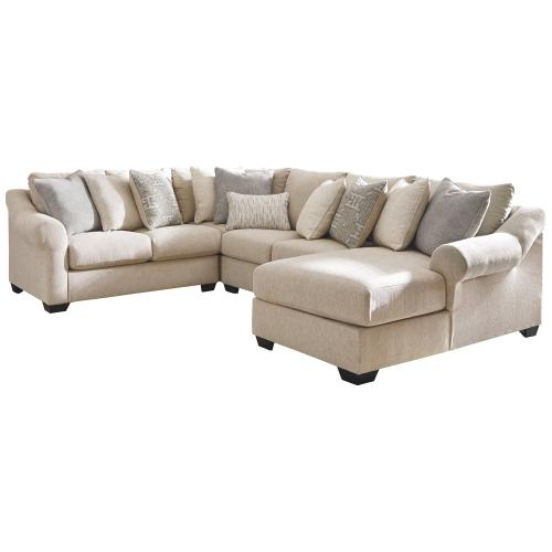 Ashley - Carnaby 4 Piece Sectional With Chaise