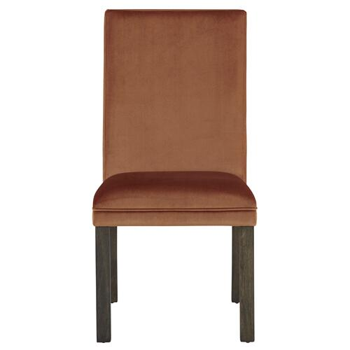 Standard Furniture - Trenton 2-Pack Upholstered Side Chairs, Orange
