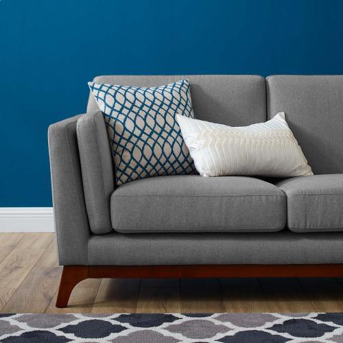 Chance Upholstered Fabric Sofa in Light Gray