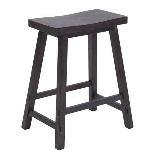 Liberty Furniture Industries - 24 Inch Sawhorse Counter Stool - Slate