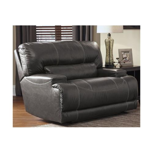 McCaskill Wide Seat Recliner Gray