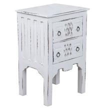 Cottage End Table - Whitewashed