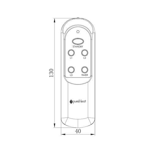 pureHeat GARAGE & PATIO Remote Control