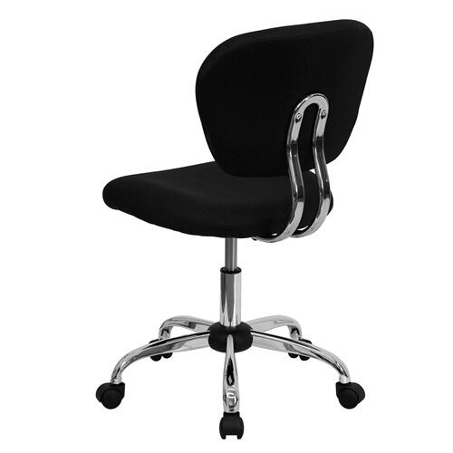 Stetson University Hatters Embroidered Black Mesh Task Chair with Chrome Base