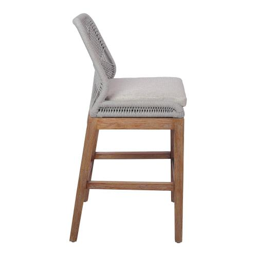 Matisse Rope Counter Stool, Gray