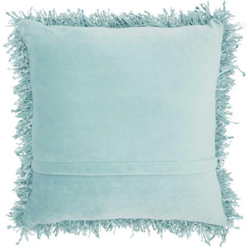 "Shag Tl050 Celadon 20"" X 20"" Throw Pillow"