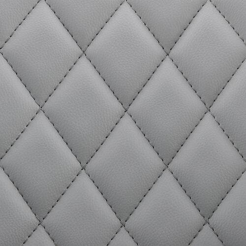 Armen Living - Leland Adjustable Grey Faux Leather and Black Finish Bar Stool