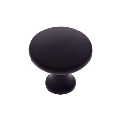 """Matte Black 1-1/4"""" Flat Mushroom Knob"""