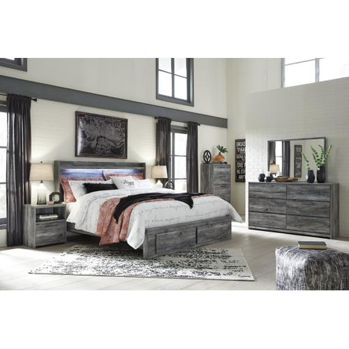 Ashley - Queen Panel Bed With 4 Storage Drawers With Dresser