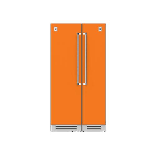 "Hestan - 42"" Column Refrigerator (L) and Freezer ® Ensemble Refrigeration Suite - Citra"
