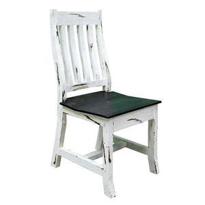 White Scraped Romeo Chair