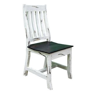 White Scraped Romeo Chair