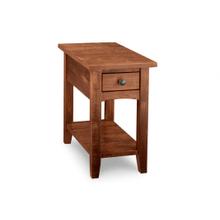 Glengarry Chair Side Table w/dwr w/shelf