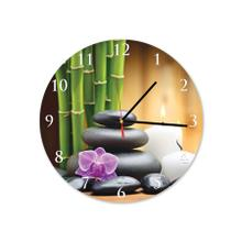 Spa Stones Round Acrylic Wall Clock