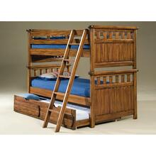 Twin Over Twin Bunk Bed With Optional Trundle