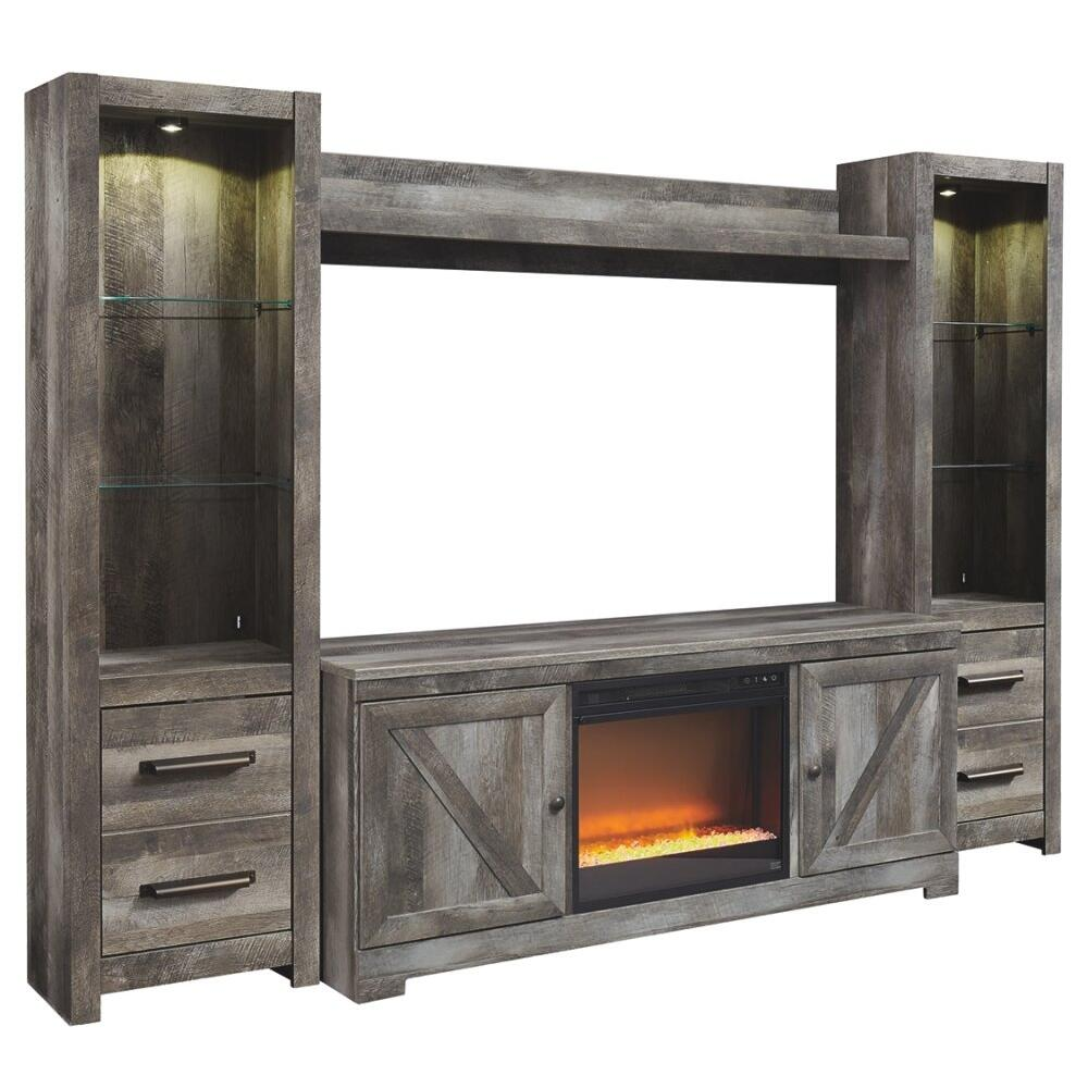 See Details - Wynnlow 4-piece Entertainment Center With Electric Fireplace