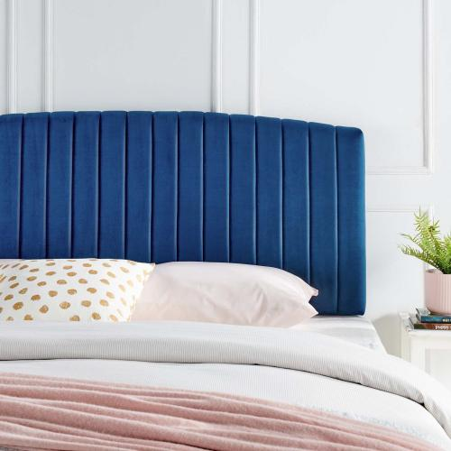 Rebecca Performance Velvet Full / Queen Headboard in Navy