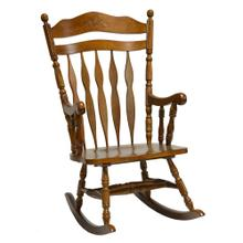 Hardwood Carved Back Rocker (rta)