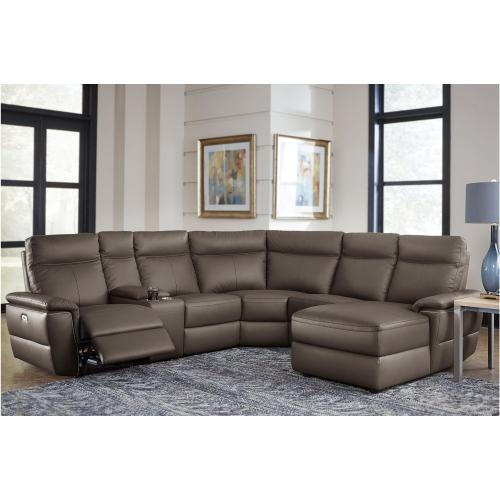 5-Piece Modular Power Reclining Sectional with Right Chaise