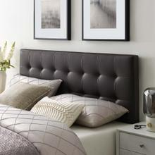 Lily Full Upholstered Vinyl Headboard in Brown