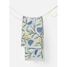 Bird & Flower Knit Throw