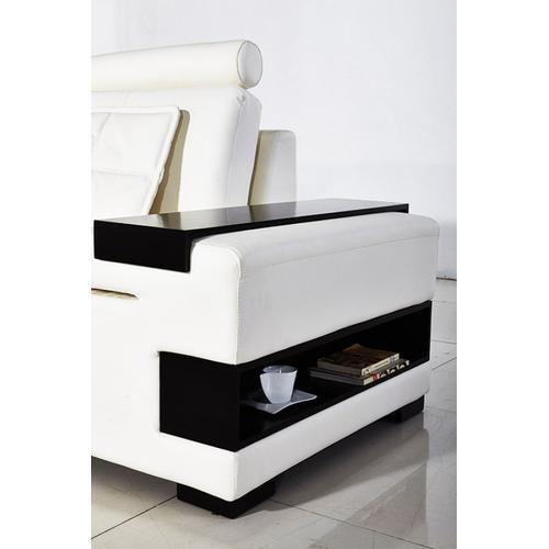 Divani Casa Diamond Modern White Leather Sectional Sofa
