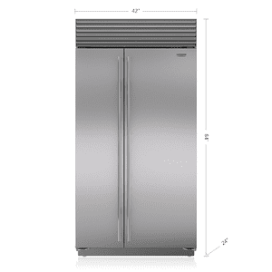 "Sub-Zero42"" Classic Side-by-Side Refrigerator/Freezer with Internal Dispenser"