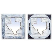 See Details - Large White Texas Mirror Da