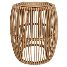 Keegan Rattan End Table, Honey