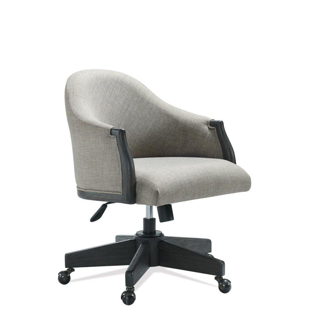 See Details - Regency - Upholstered Desk Chair - Matte Black Finish