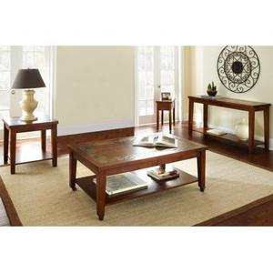 Davenport Slate Cocktail Table w/Locking Casters