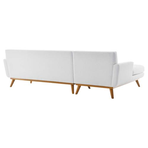 Modway - Engage Left-Facing Upholstered Fabric Sectional Sofa in White