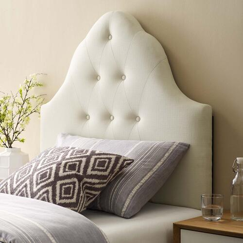 Sovereign Twin Upholstered Fabric Headboard in Ivory