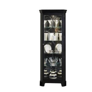 Pulaski Furniture - Lighted 4 Shelf Corner Curio Cabinet in Oxford Black