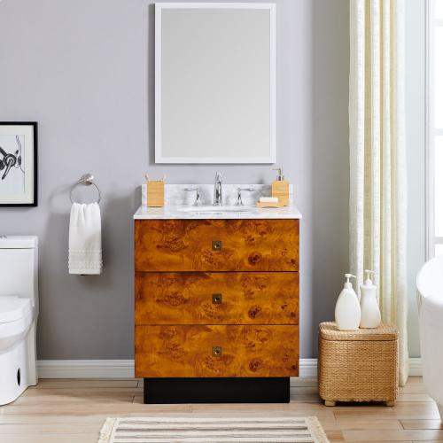 Modern-contemporary Holly & Martin Betlow Marble Top Vanity Sink