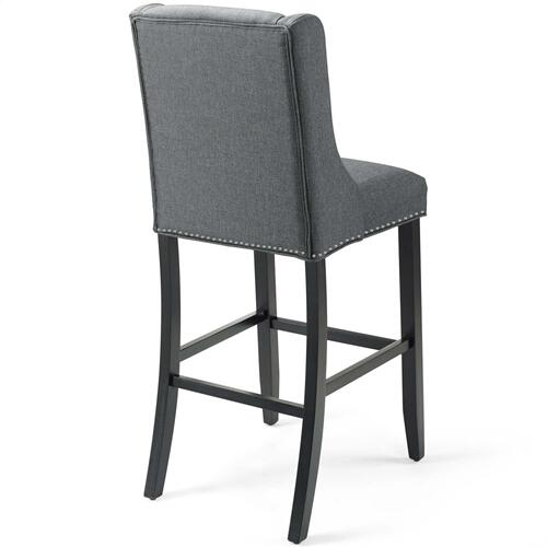 Baron Upholstered Fabric Bar Stool in Gray