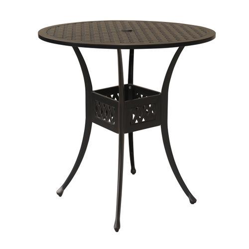 "Alfresco Home - Bonita Weave 42"" Round Die Cast Bar table"