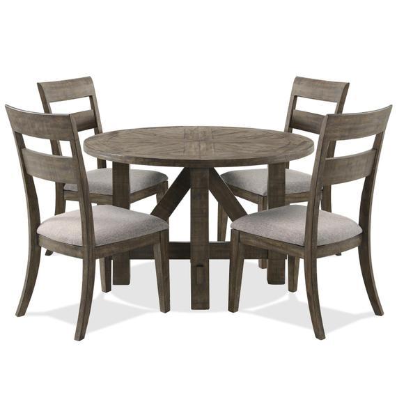 Riverside - Bradford - Round Dining Table - Rustic Coffee Finish