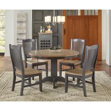 "5 PIECE SET (48"" ROUND TABLE AND 4 SIDE CHAIRS)"