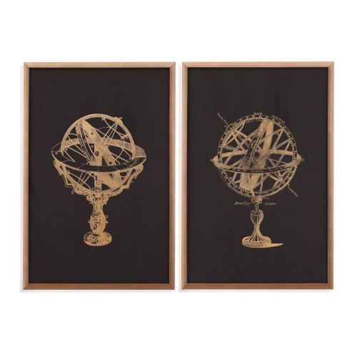 2 Pc Armillary Sphere