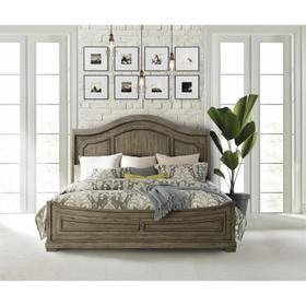 Louis Farmhouse - King/california King Panel Headboard - Antique Oak Finish