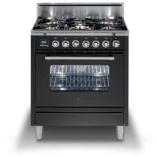 "30"" Professional Plus Series Freestanding Single Oven Gas Range with 5 Sealed Burners in Matte Graphite"