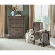 See Details - Bradford - Laptop Side Table - Rustic Coffee Finish